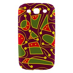 Playful decorative abstract art Samsung Galaxy S III Hardshell Case