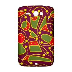 Playful decorative abstract art HTC ChaCha / HTC Status Hardshell Case