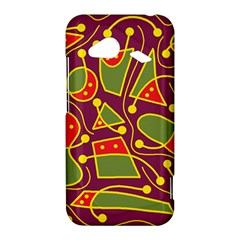 Playful decorative abstract art HTC Droid Incredible 4G LTE Hardshell Case