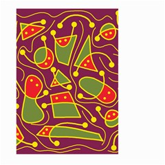 Playful decorative abstract art Large Garden Flag (Two Sides)