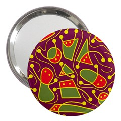 Playful decorative abstract art 3  Handbag Mirrors