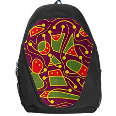 Playful decorative abstract art Backpack Bag