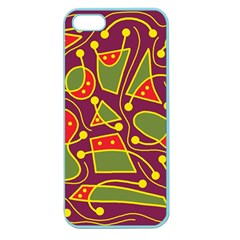 Playful decorative abstract art Apple Seamless iPhone 5 Case (Color)