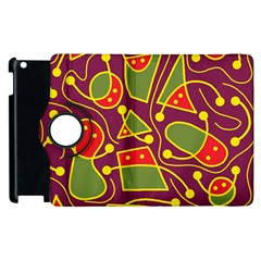 Playful decorative abstract art Apple iPad 2 Flip 360 Case