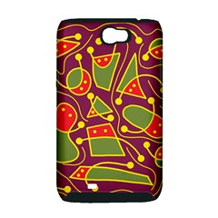 Playful decorative abstract art Samsung Galaxy Note 2 Hardshell Case (PC+Silicone)