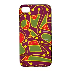 Playful decorative abstract art Apple iPhone 4/4S Hardshell Case with Stand