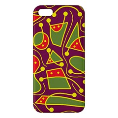 Playful decorative abstract art Apple iPhone 5 Premium Hardshell Case