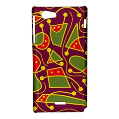 Playful decorative abstract art Sony Xperia J