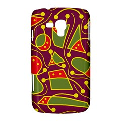 Playful decorative abstract art Samsung Galaxy Duos I8262 Hardshell Case
