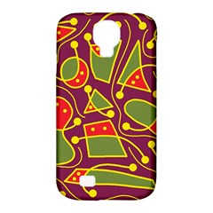 Playful decorative abstract art Samsung Galaxy S4 Classic Hardshell Case (PC+Silicone)