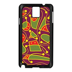 Playful decorative abstract art Samsung Galaxy Note 3 N9005 Case (Black)