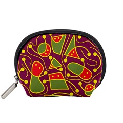 Playful decorative abstract art Accessory Pouches (Small)