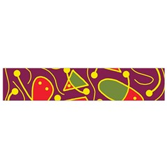 Playful decorative abstract art Flano Scarf (Small)