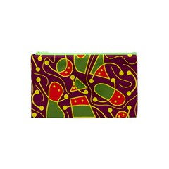 Playful decorative abstract art Cosmetic Bag (XS)