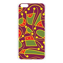 Playful decorative abstract art Apple Seamless iPhone 6 Plus/6S Plus Case (Transparent)