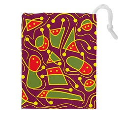 Playful decorative abstract art Drawstring Pouches (XXL)