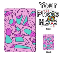 Playful abstract art - pink Multi-purpose Cards (Rectangle)