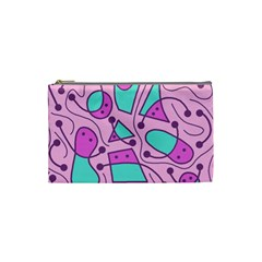 Playful abstract art - pink Cosmetic Bag (Small)