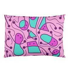 Playful abstract art - pink Pillow Case (Two Sides)
