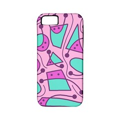 Playful abstract art - pink Apple iPhone 5 Classic Hardshell Case (PC+Silicone)
