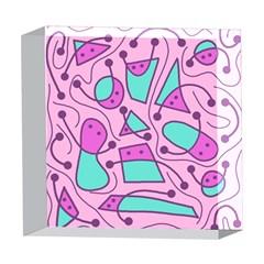Playful abstract art - pink 5  x 5  Acrylic Photo Blocks