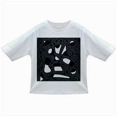 Playful abstract art - gray Infant/Toddler T-Shirts