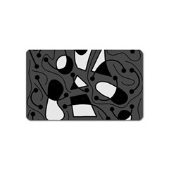 Playful abstract art - gray Magnet (Name Card)