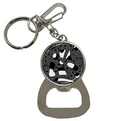 Playful abstract art - gray Bottle Opener Key Chains