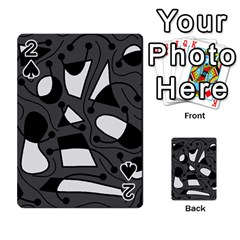 Playful abstract art - gray Playing Cards 54 Designs
