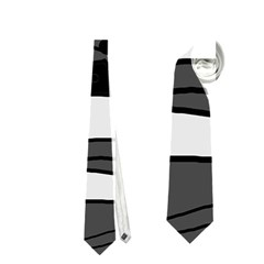 Playful abstract art - gray Neckties (One Side)