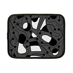 Playful abstract art - gray Netbook Case (Small)