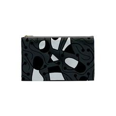 Playful abstract art - gray Cosmetic Bag (Small)