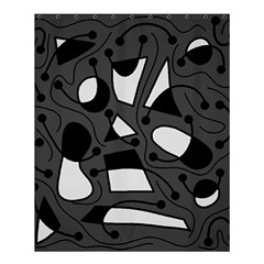 Playful abstract art - gray Shower Curtain 60  x 72  (Medium)