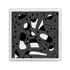 Playful abstract art - gray Memory Card Reader (Square)