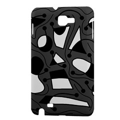 Playful abstract art - gray Samsung Galaxy Note 1 Hardshell Case