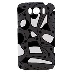Playful abstract art - gray HTC Sensation XL Hardshell Case