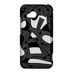 Playful abstract art - gray HTC Droid Incredible 4G LTE Hardshell Case