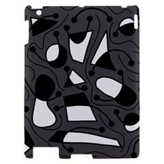 Playful abstract art - gray Apple iPad 2 Hardshell Case