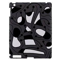 Playful abstract art - gray Apple iPad 3/4 Hardshell Case