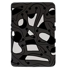 Playful abstract art - gray Samsung Galaxy Tab 8.9  P7300 Hardshell Case