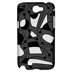 Playful abstract art - gray Samsung Galaxy Note 2 Hardshell Case