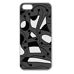 Playful abstract art - gray Apple Seamless iPhone 5 Case (Clear)