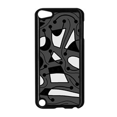 Playful abstract art - gray Apple iPod Touch 5 Case (Black)