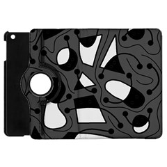 Playful abstract art - gray Apple iPad Mini Flip 360 Case