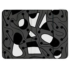 Playful abstract art - gray Samsung Galaxy Tab 7  P1000 Flip Case
