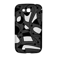 Playful abstract art - gray Samsung Galaxy Grand GT-I9128 Hardshell Case
