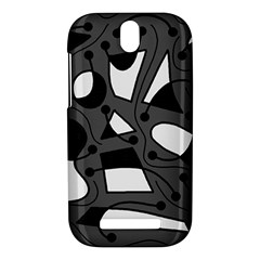 Playful abstract art - gray HTC One SV Hardshell Case