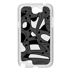 Playful abstract art - gray Samsung Galaxy Note 2 Case (White)