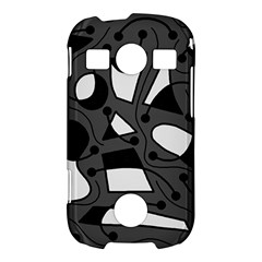 Playful abstract art - gray Samsung Galaxy S7710 Xcover 2 Hardshell Case