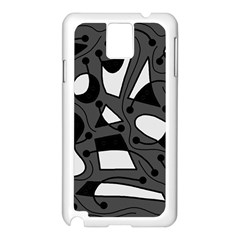 Playful abstract art - gray Samsung Galaxy Note 3 N9005 Case (White)